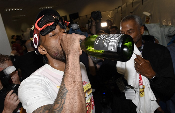 why do nba players wear goggles when celebrating